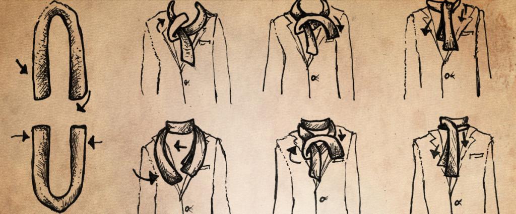 Le foulard, nouvelle cravate qui donne un air décontracté et chic!3