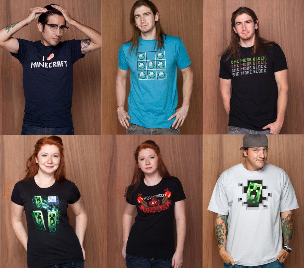 La tendance des T shirt minecraft à portée de clic !3
